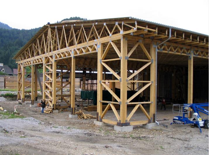 Сделать деревянную ферму на крышу